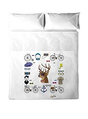 HIPSTER Betttuch und Kissenbezug Iconos
