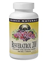 Source Naturals Resveratrol 200mg, 120 VCaps