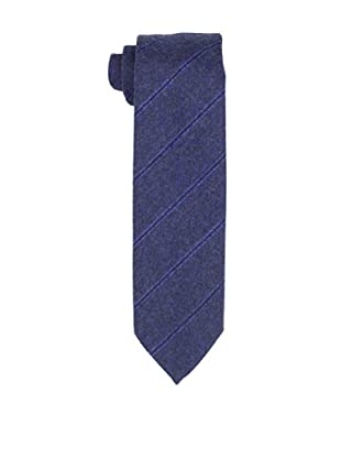 Desanto Men's Diagonal Stripe Scozia Tie, Navy