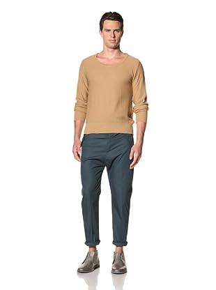 Camo Men's Vaglio Round Neck Pullover (Sand Brown)