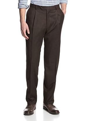 Hart Schaffner Marx Men's Solid Trouser (Brown)