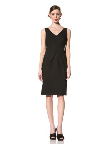 Magaschoni Women's Sleeveless V-Neck Dress (Black)