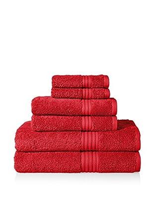 Chortex of England Hampton 6-Piece Towel Set, Ruby