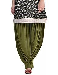 Sohniye Women's Viscose Patiala [GAKP27_Green_Free Size]