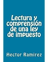 Lectura y comprensión de una ley de impuesto (Spanish Edition)
