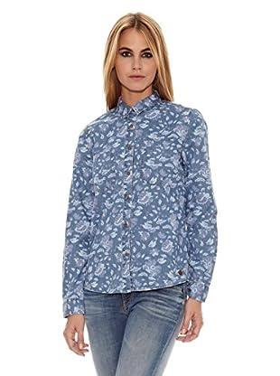 Pepe Jeans London Camisa Mujer Printed (Azul)