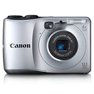 Canon PowerShot A1200 12.1MP Point-and-Shoot Digital Camera (Silver) with Memory Card, Camera Case