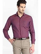 Solid Wine Formal Shirt Mark Taylor