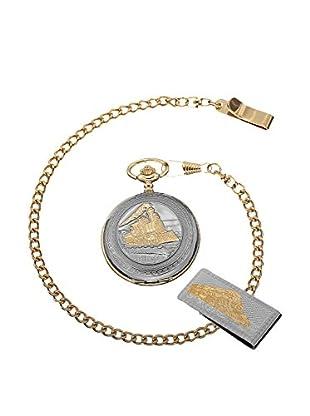 August Steiner Uhr mit japanischem Quarzuhrwerk As8144Yg goldfarben