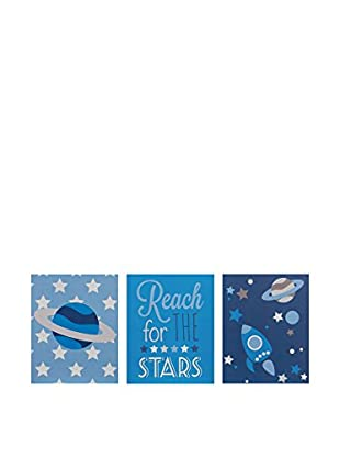 Premier Interior Set Panel Decorativo 3 Uds. Kids Reach For The Stars Wall Plaques