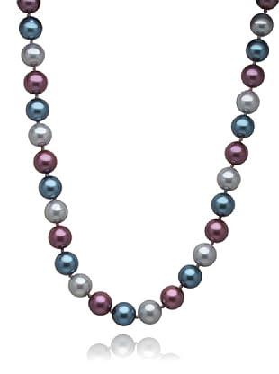 Perldor Kette Muschelkernperlen purple/grau 60650038