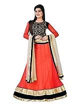 Astha Fashion Bridal ware Heavy Emboidery work Blouse Red Lehenga