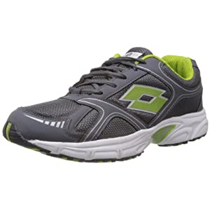 Lotto 10 UK Grey And Lime Trail Speed Mesh Running Shoes For Men
