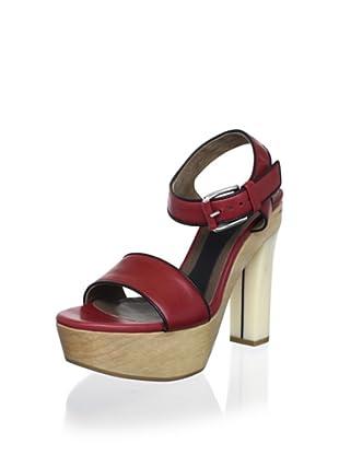 MARNI Women's Platform Sandal (Burgundy/Coal)