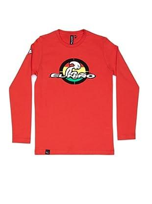El Niño Camiseta Manga Larga Básica (Rojo)