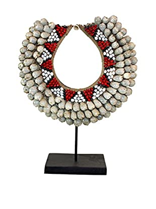 Asian Loft Papua Tribal Shell Necklace on Stand