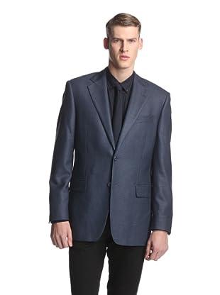 Joseph Abboud Men's Basic Signature Silver Neat Sportcoat (Blue Mini)