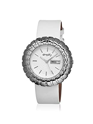 Simplify Women's 2101 The 2100 White Leather Watch