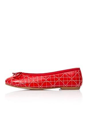Bisue Bailarinas Pespuntes Geo (Rojo)