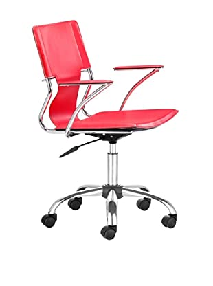 Zuo Trafico Office Chair, Red