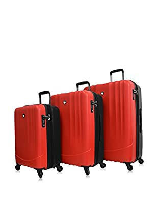 Mia Toro 3-Piece Polipropilene Hardside Spinner Luggage Set