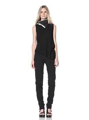 Ann Demeulemeester Women's Sleeveless Tie Top (Black)