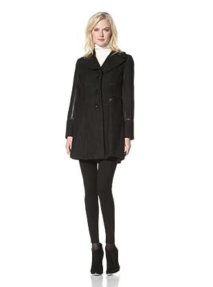 Kensie Women's Single-Breasted Coat (Black)