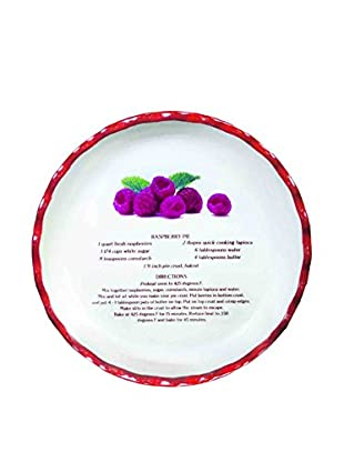 Aunt Beth's Cookie Keepers Raspberry Pie Plate