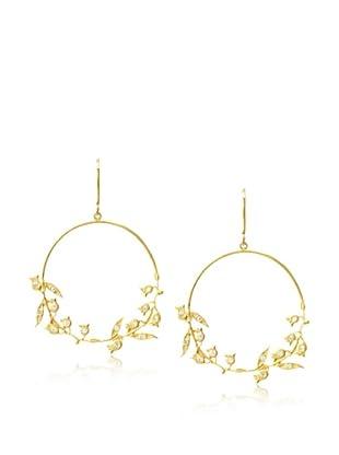 Eddera Lily White Topaz Vine Earrings