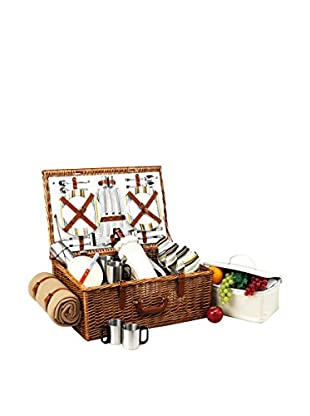 Picnic At Ascot Dorset Basket For 4 with Coffee Set and Blanket, Santa Cruz
