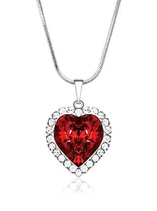 Swarovski Elements By Bohemian Love Story Conjunto de cadena y colgante Crystal Strass Big Heart