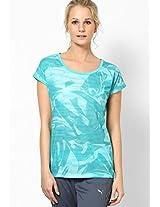 Aqua Polyester Blend Top Puma