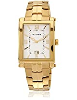 9327Ym01 Golden/White Analog Watch