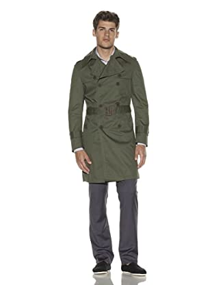 Melinda Gloss Men's Trench Coat (Military Green)
