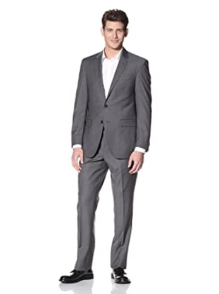 Kenneth Cole New York Men's Solid Suit (Charcoal)