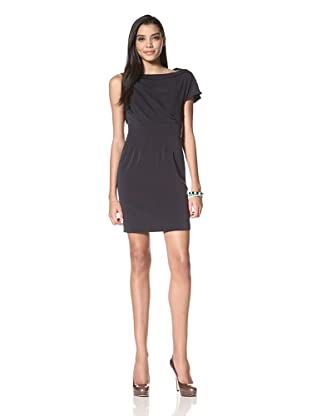 Z Spoke Zac Posen Women's Asymmetrical Textured Sheath Dress (Midnight)