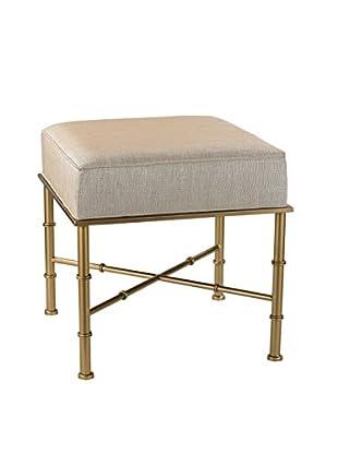 Artistic Lighting Cane Bench, Gold/Cream Metallic