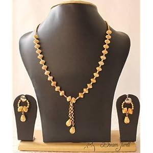 Mirraw Golden Balls Trendy Fashion Jewel Set