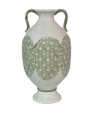 Three Hands White Wide Vase