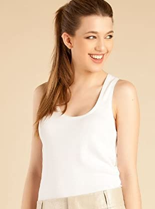 Caramelo Camiseta Básica (Blanco)