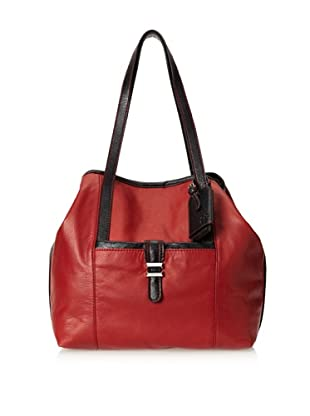 Charlotte Ronson Women's Classic De-Constructed Tote Bag (Oxblood)