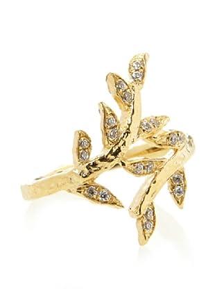 KiraKira White Sapphire Laurel Ring