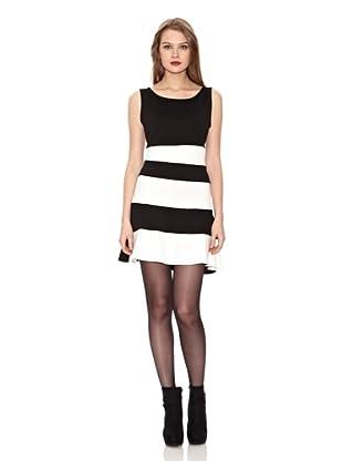 Assuili Vestido Bicolor (Negro / Blanco)