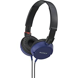 Sony MDR-ZX100/BLU ZX-Series Monitor Headphones Blue