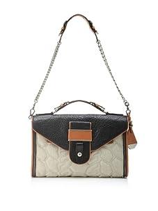 Rebecca Minkoff Women's Rivington Convertible Handbag, Linen Brown/Black