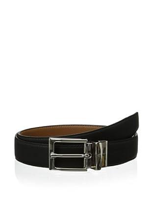 Leone Braconi Men's Toro Morbido Reversible Belt (Black/Cognac)