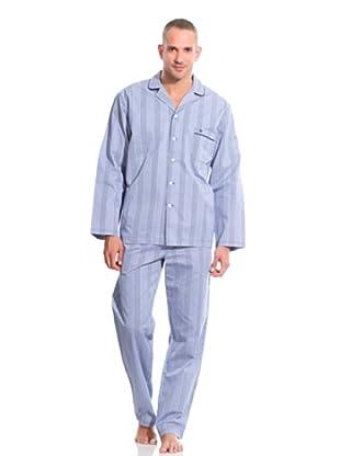 Pedro del Hierro Pijama Cuadros (Azul)