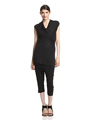 Rick Owens Lilies Women's Draped Top (Black)
