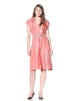 MARNI Women's Printed V-Neck Dress (Camelia)