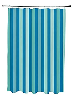 e by design Striped Shower Curtain, Aqua